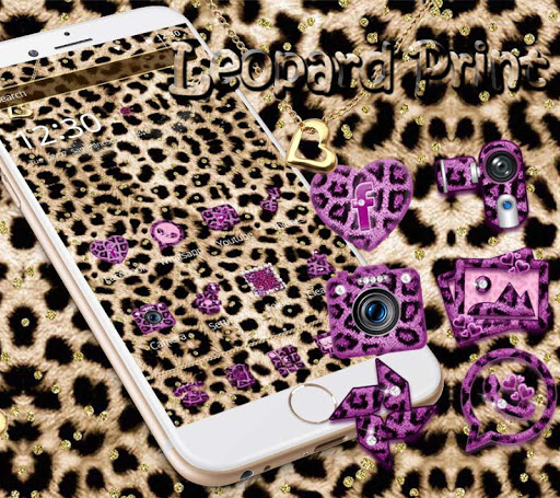 Pink Gold leopard Print Theme 1.1.5 screenshots 1