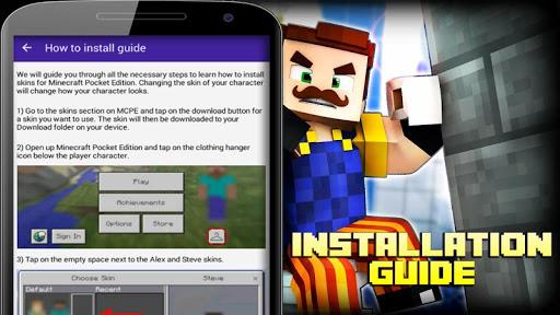 Skins Hello Neighbor for Minecraft app (apk) free download