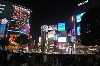 Photo: shibuya au feu vert pour les piétons
