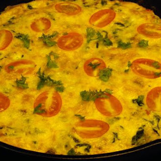 Fritatta With Spinach, Tomatoes, Cheese