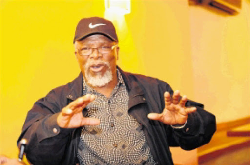 BIG NAME: John Kani. Pic. Tsheko Kabasia. . © Sowetan.Veteran actor Jonh Kani just after giving an exellent perfomance in an opening night of his production