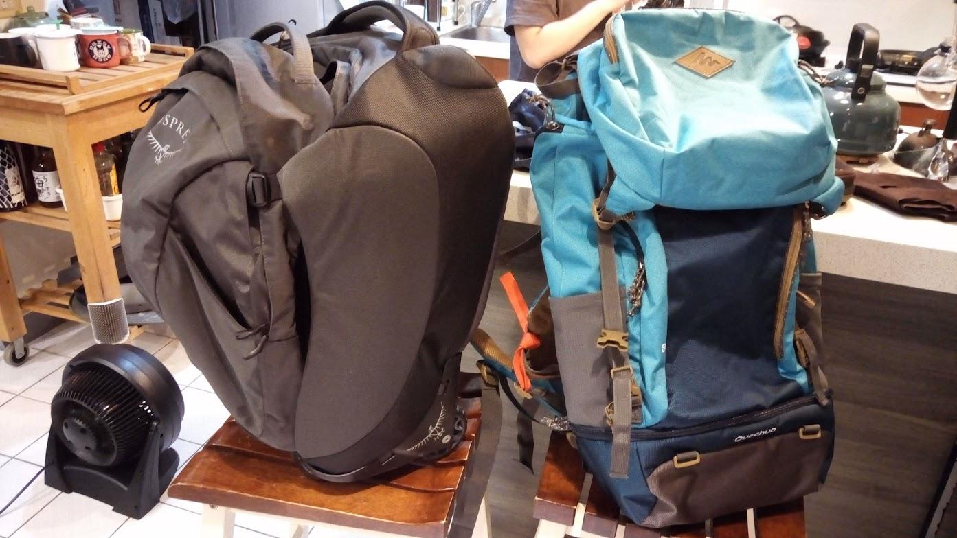 兩咖好用的大背包,還可以分別拆開成子母包
