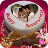 Nom Photo On Anniversary Cake - Cadres Couple HD