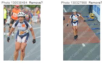 Photo: Vignettes photos de course de Vanessa.