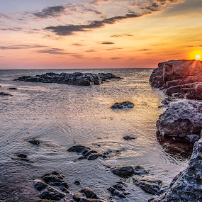 by Venelin Dimitrov - Landscapes Sunsets & Sunrises ( sky, stone, sea, summer, sunrise,  )