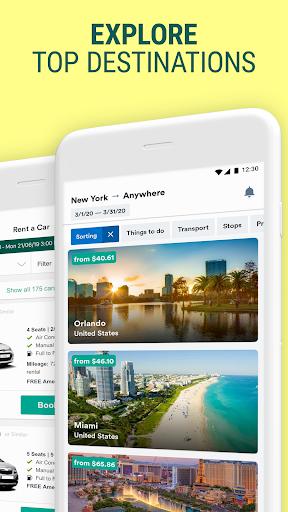 Kiwi.com: Best travel deals: flights, hotels, cars  screenshots 3