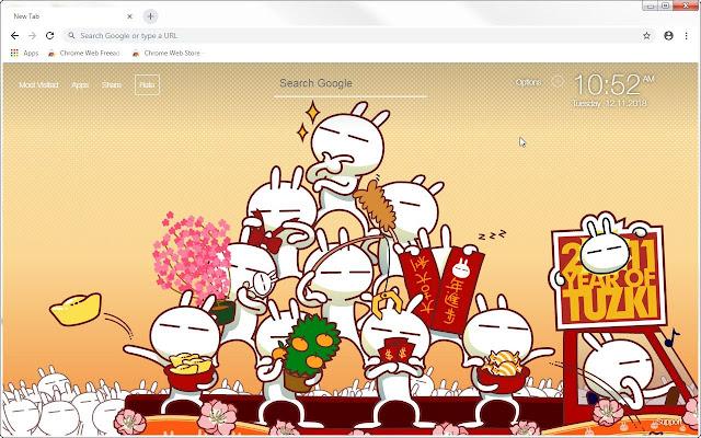 Tuzki Bunny HD Wallpapers New Tab Themes