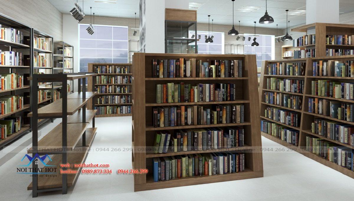 thiết kế nhà sách sài đồng