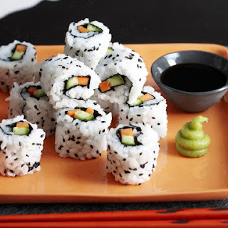 Inside Out Sushi Rolls.