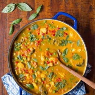 Chicken, Carrot and Chickpea Coconut Curry.