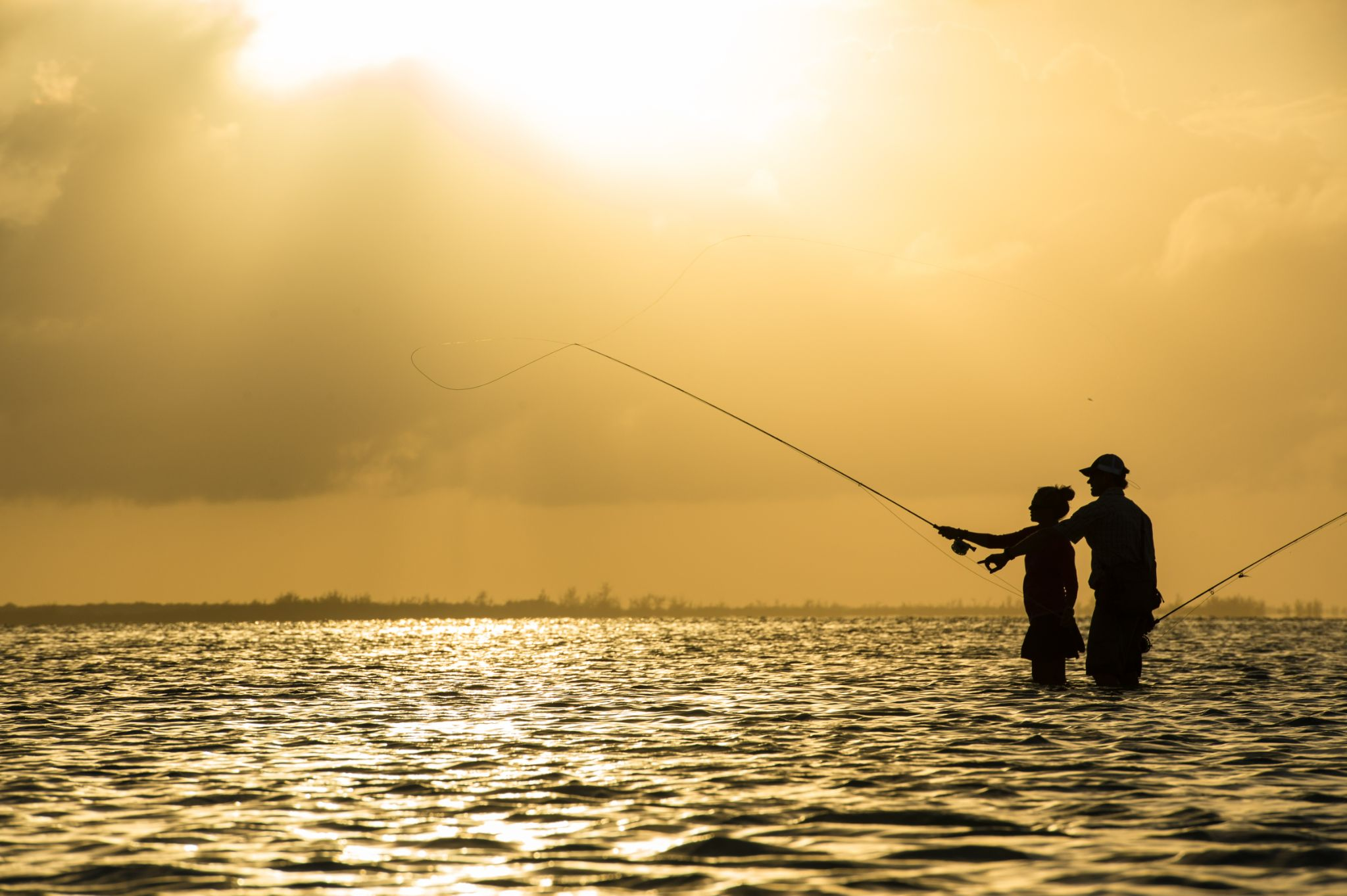 going fishing a dad and his son