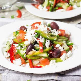 Bulgarian Shopska Salad (Shopska Salata).