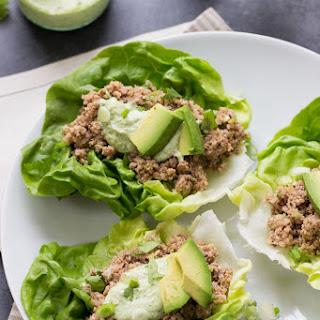 Spicy Mushroom + Quinoa Lettuce Wraps