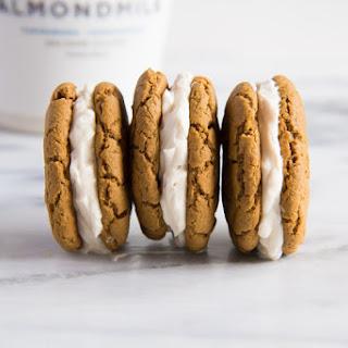 Soft Gingerbread Sandwich Cookies.