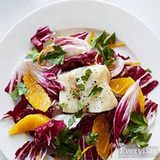 Roasted Cod with Orange & Radicchio.