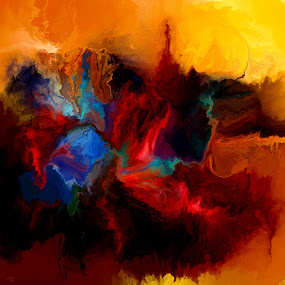 Worlds Apart by Glen Sande - Painting All Painting ( conceptual art, abstract, modern art, worlds apart, expressionism, art, painting, glen sande )
