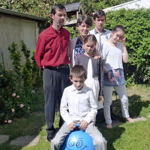 La famille Ménard participe au cross du courrier de l'Ouest pour soutenir L'Arche en Anjou !