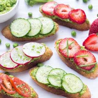 Spring Crostini with Pea Pesto
