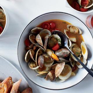Clams with Hot Pepper, Saffron & Tomato Confit