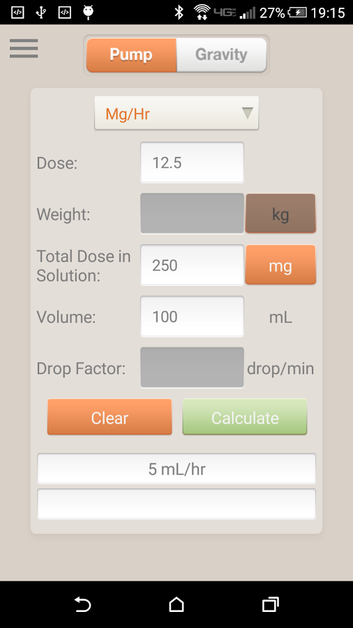 IV Infusion Calculator- screenshot