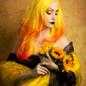 Sunflowers. by Mark Perry - People Fine Art ( perry, gothic, art, sunflower, alternative, mark, fine )