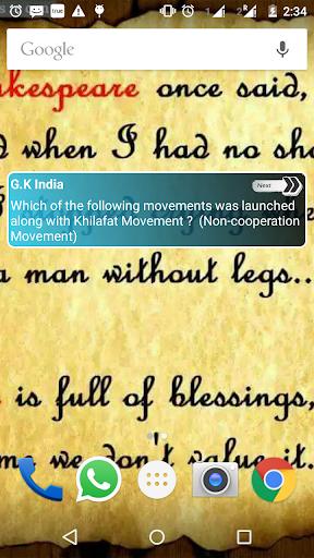 G.K India Widget App
