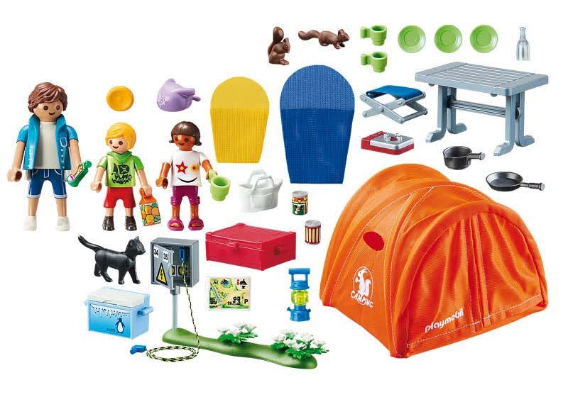 Contenido real de Playmobil® 70089 Tienda de Campaña