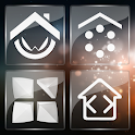 3K SQR Glass - White Icon Pack