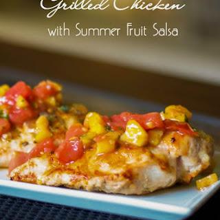 Grilled Chicken with Summer Fruit Salsa