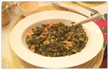 Fried Kale With Mushrooms And Bacon Recipe