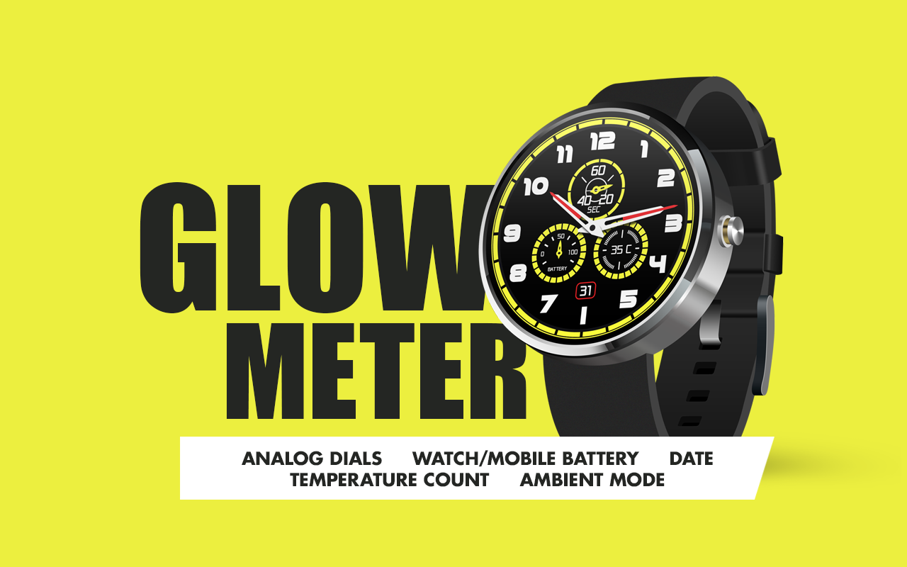 Glow Meter Watch Face- screenshot