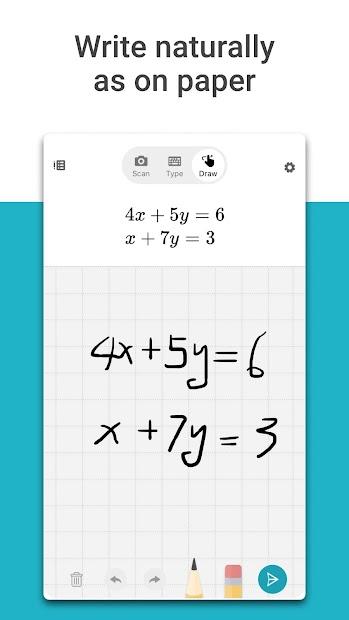 Microsoft Math Solver Android App Screenshot