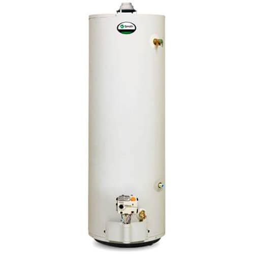 White hot water heater tank