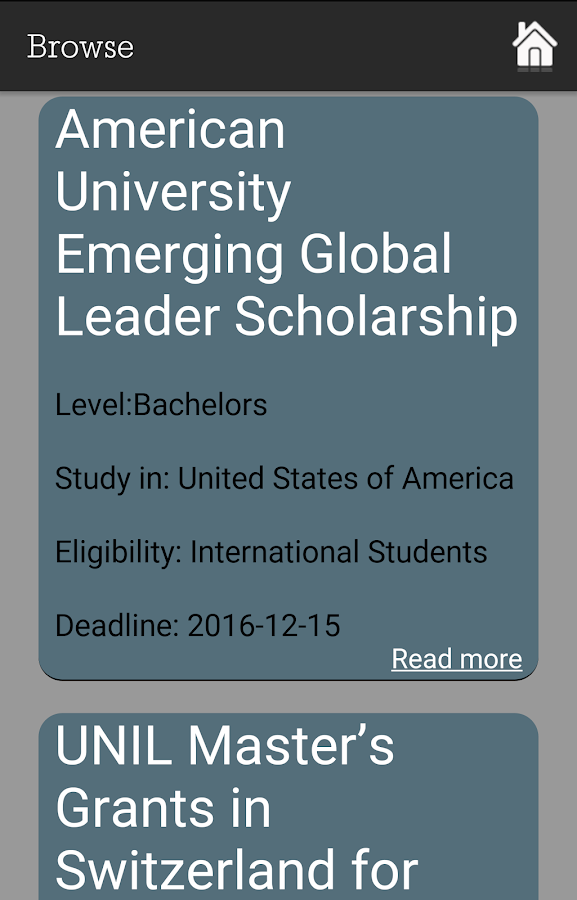 Scholarships Finder- screenshot