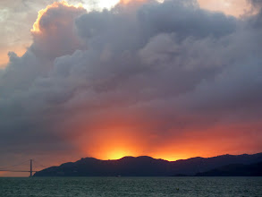 Photo: Sunset Feb. 17 2011 seen from Cesar Chavez Park