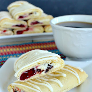 Raspberry Chocolate Chip Cheesecake Rolls