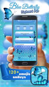 Blue Butterfly Keyboard App screenshot 0
