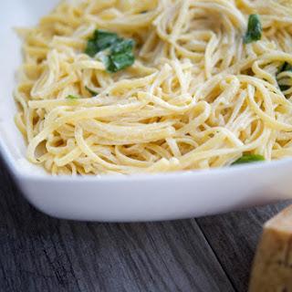 Linguine with Limoncello Asiago Cream Sauce