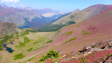 Photo: View from Red Gap Pass looking down at Elizabeth Lake