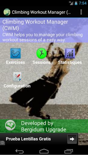 Climbing Workout Manager