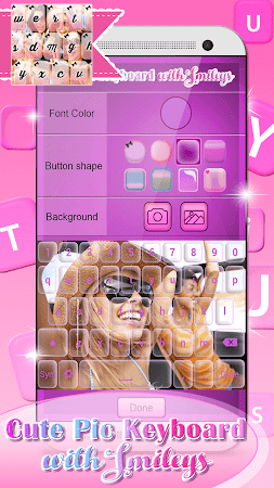 Cute Pic Keyboard with Smileys 3.0 screenshot 2090737