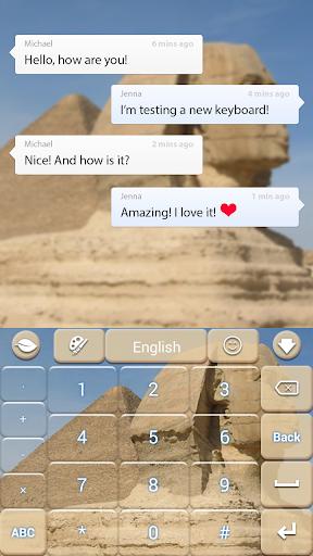 無料个人化Appのスフィンクスのテーマキーボード|記事Game