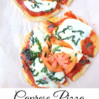 Caprese Pizza on Naan Bread.