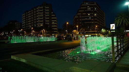 Almería se ilumina de verde por una buena causa