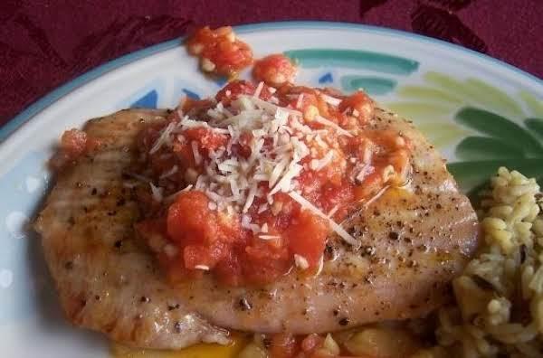 Seared Opah With Vine-ripe Tomato Garlic Butter