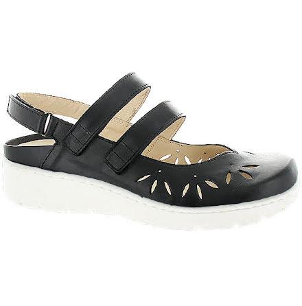 Klara svart sandalballerina