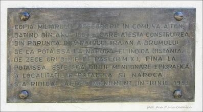 Photo: Piata 1 Decembrie 1918 - Copia Miliarului de la Aiton - 2016.08.25