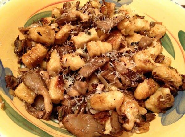 Gnocchi With Wild Mushroom Brown Butter Sage Sauce Recipe