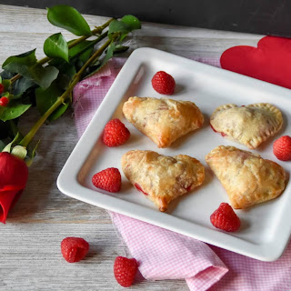 Raspberry Rose Petal Jam Puff pastry turnovers.