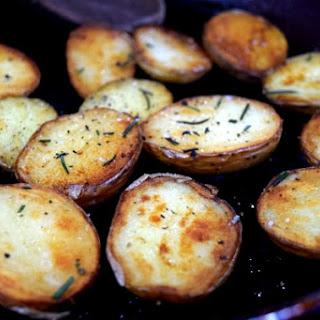 Crispy Duck Fat Potatoes.